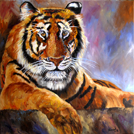 Mary Jo Zorad Wildlife art - Tiger